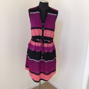 Ivanka Trump Size 6 Pink Combo sleeveless dress
